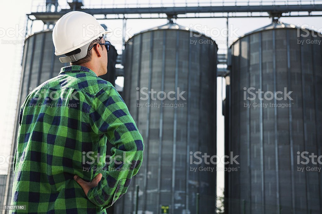 Engineer at construction site royalty-free stock photo