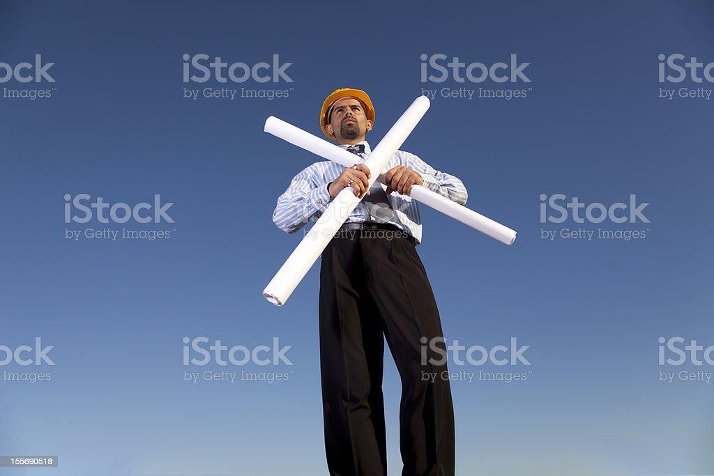 Engineer at the construction site royalty-free stock photo