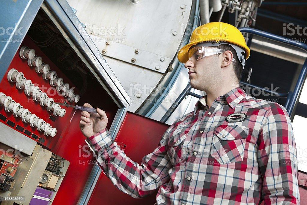 Engineer at work royalty-free stock photo