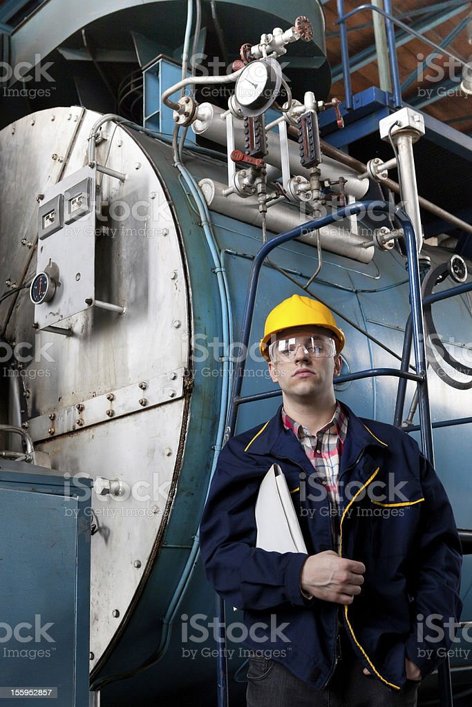 Engineer at work royalty-free stock photo