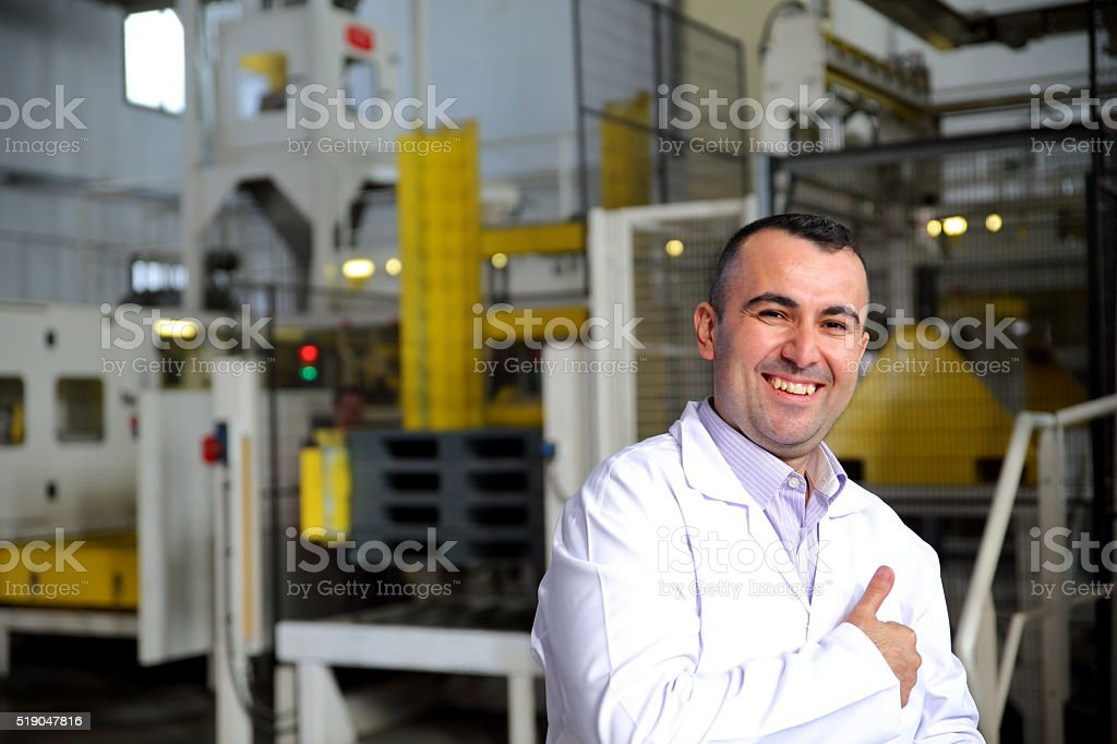 Engineer at work stock photo