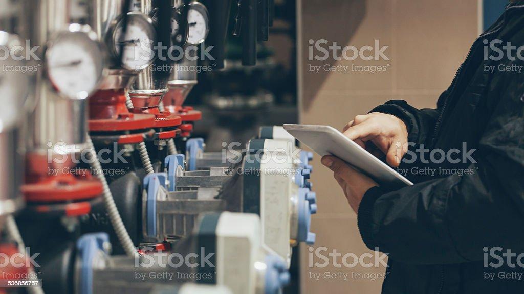 engineer at work stock photo