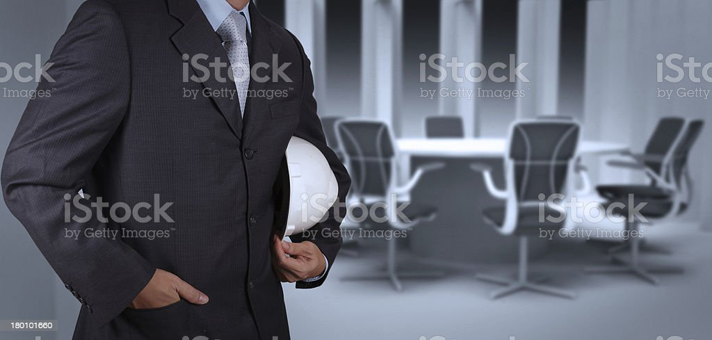 engineer businessman success working with his board room royalty-free stock photo