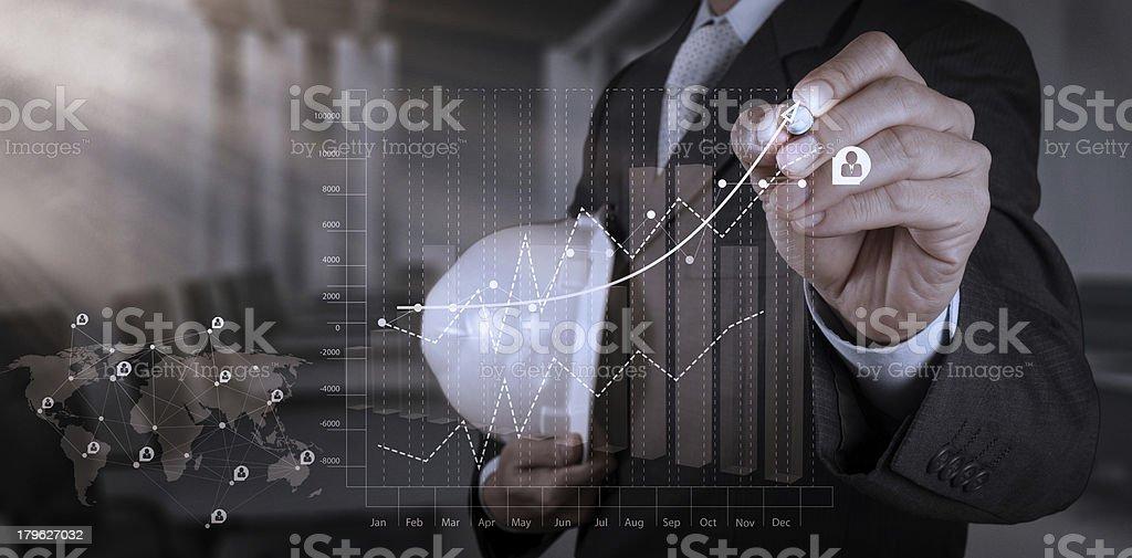 engineer businessman working on modern technology royalty-free stock photo