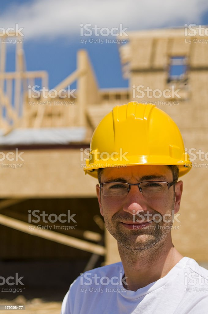 Engineer, Construction Worker on Site Series royalty-free stock photo