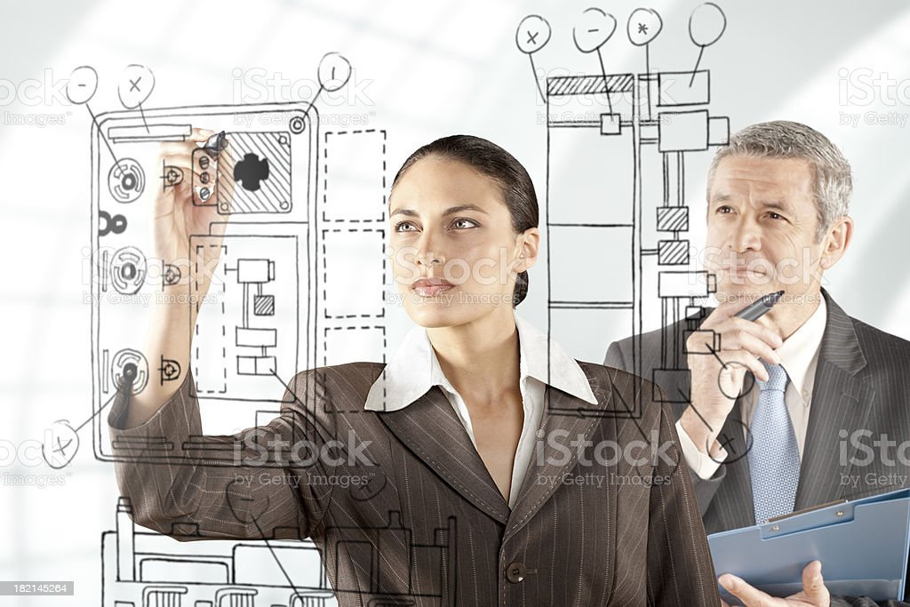Engineer data capture royalty-free stock photo