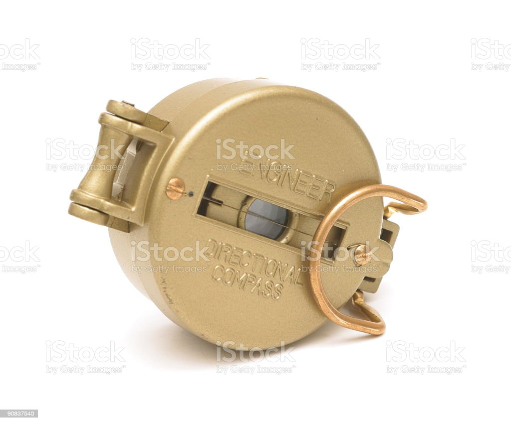 Engineer Directional Compass royalty-free stock photo