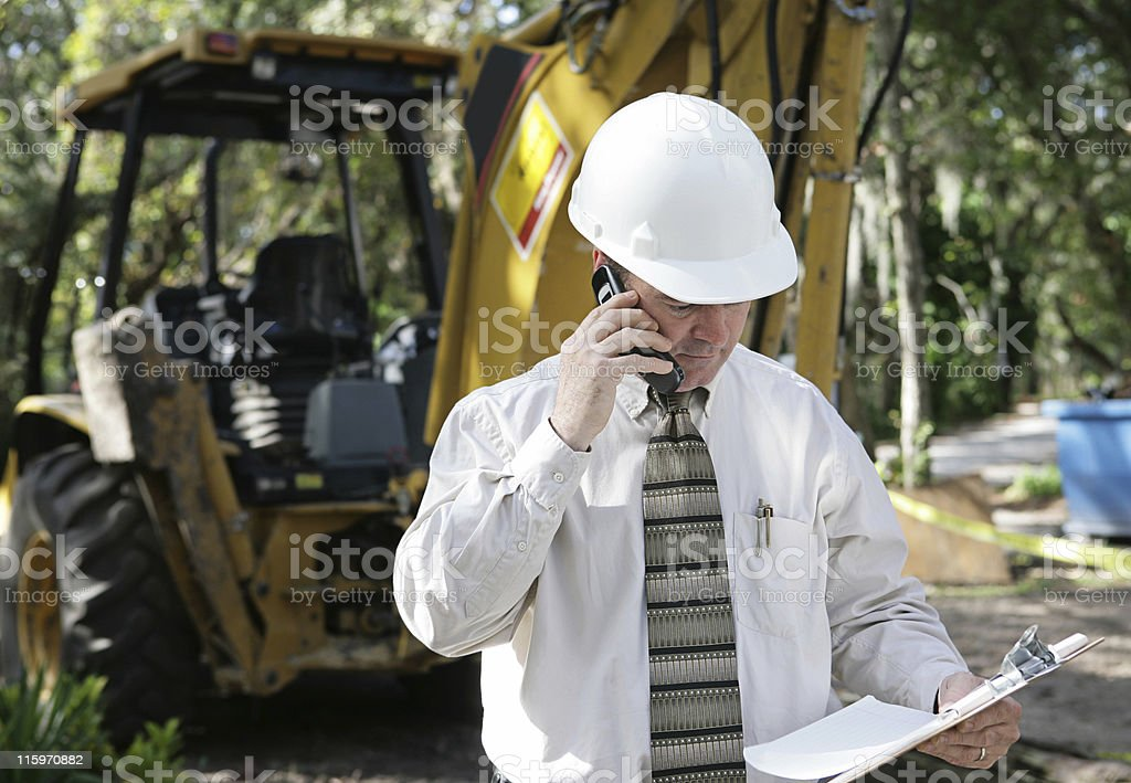 Engineer Discussing Plans royalty-free stock photo