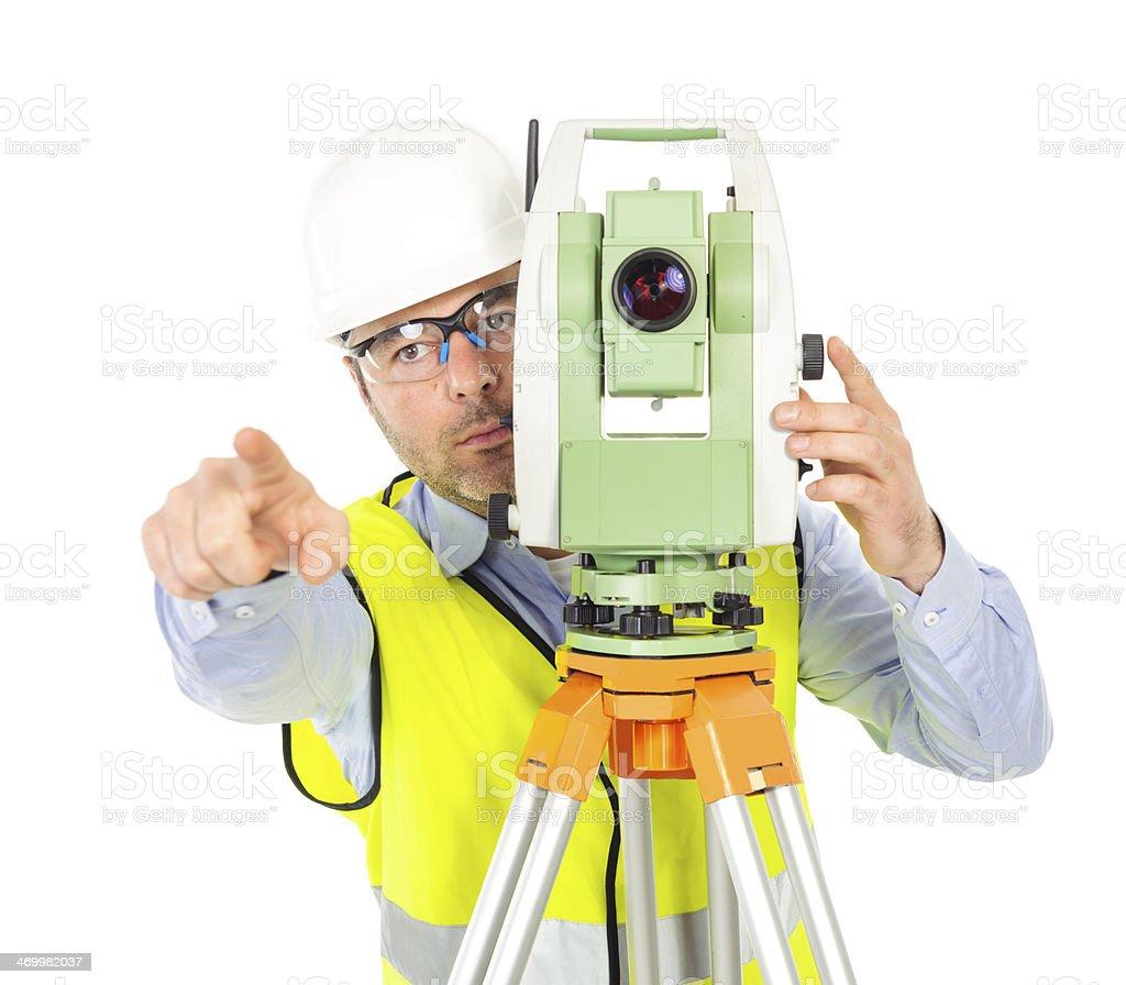 engineer gesturing royalty-free stock photo