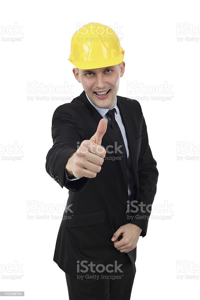Engineer giving thumbs up royalty-free stock photo