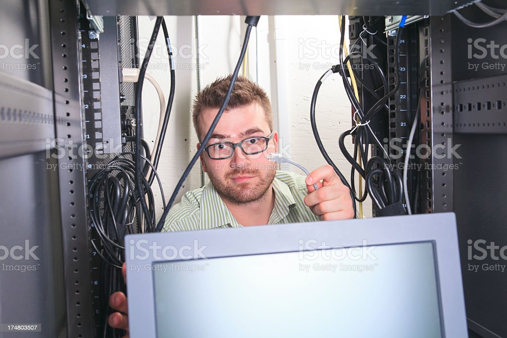 IT Engineer - Hand Wire royalty-free stock photo
