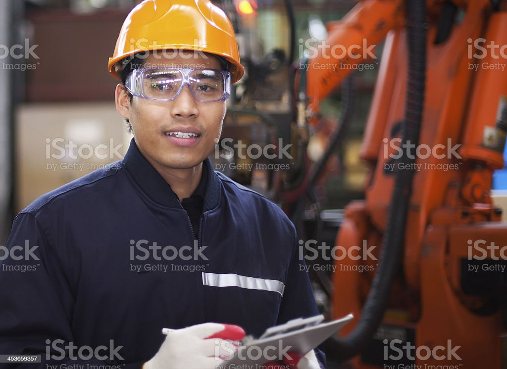 Engineer in factory royalty-free stock photo