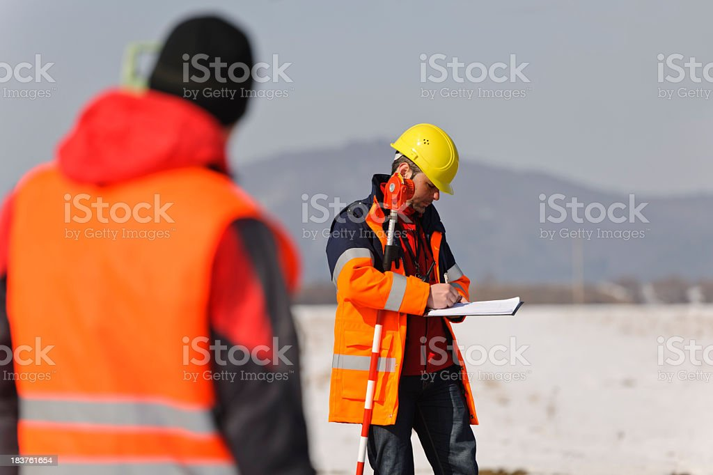 engineer in field royalty-free stock photo