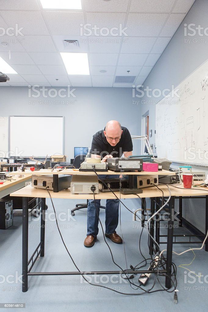 Engineer in the Lab stock photo