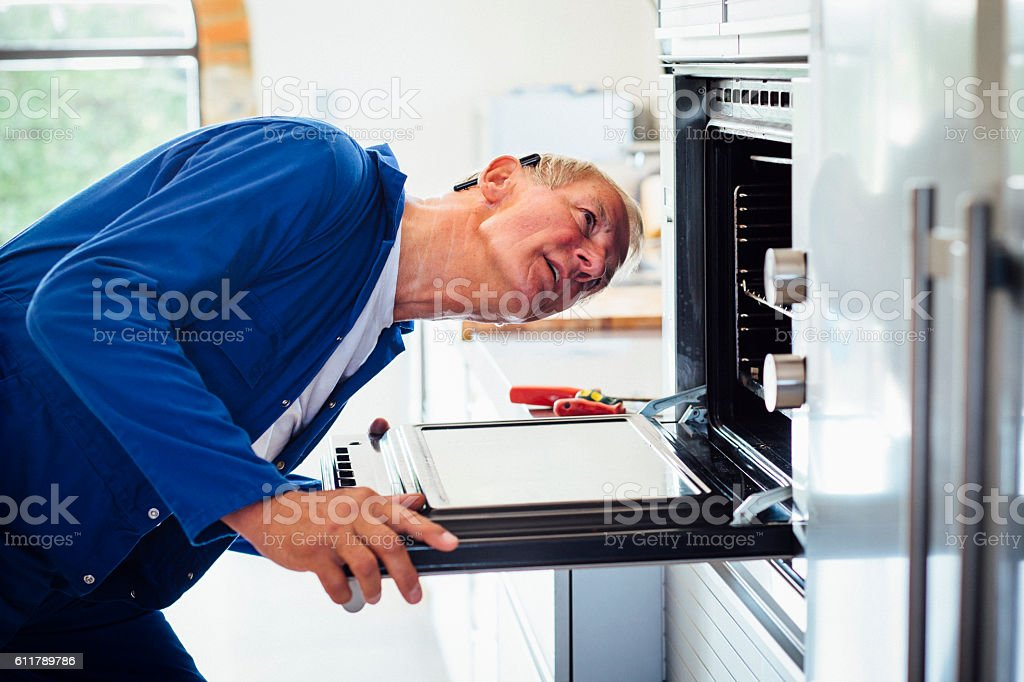 Engineer on Call stock photo