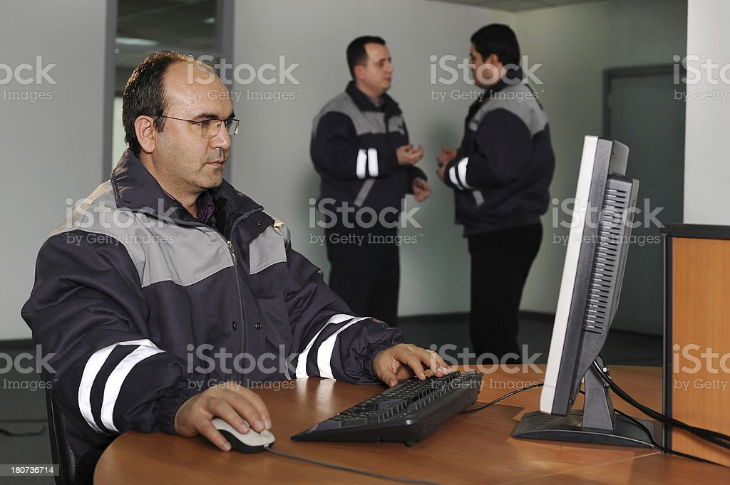 Engineer on his working place stock photo