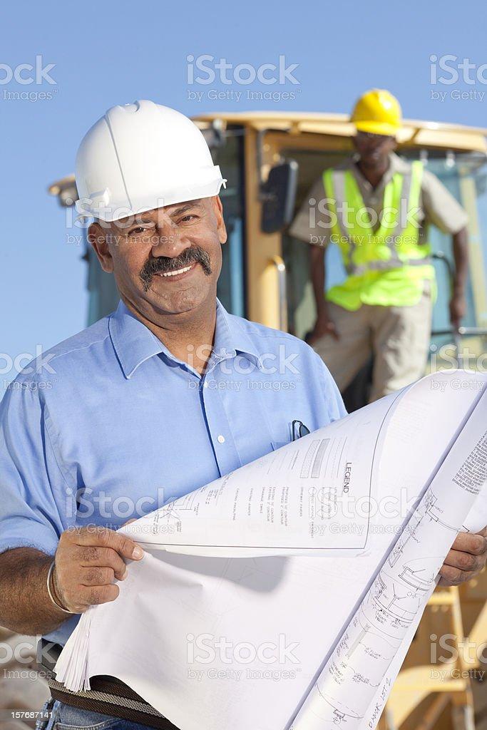 Engineer on jobsite royalty-free stock photo