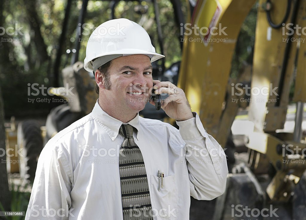 Engineer On Site royalty-free stock photo