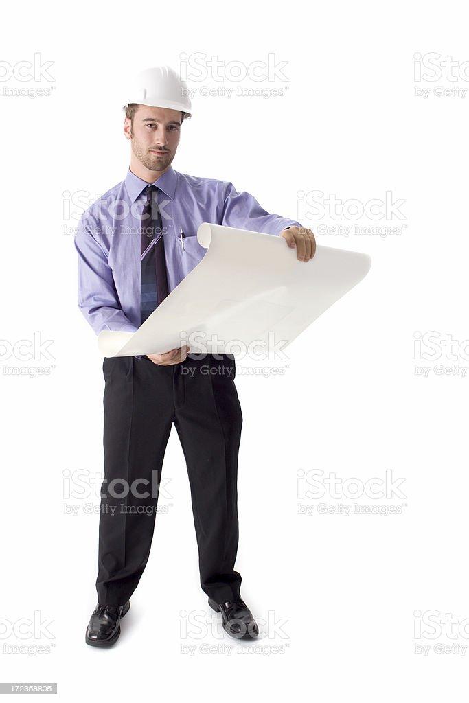 Engineer on white background royalty-free stock photo
