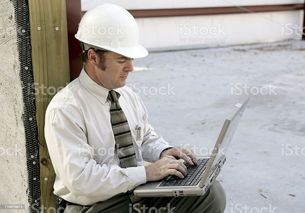 Engineer Online royalty-free stock photo