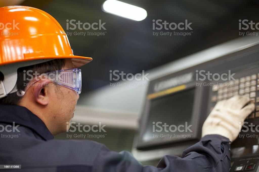 Ingenieur Betrieb Maschine Lizenzfreies stock-foto