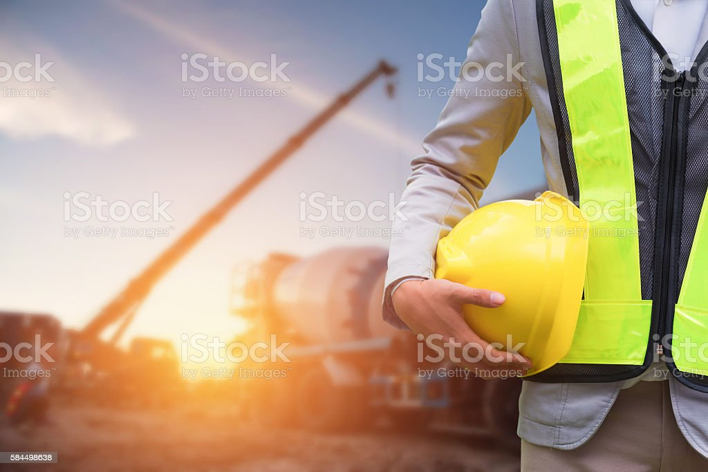 Engineer or Safety officer stock photo