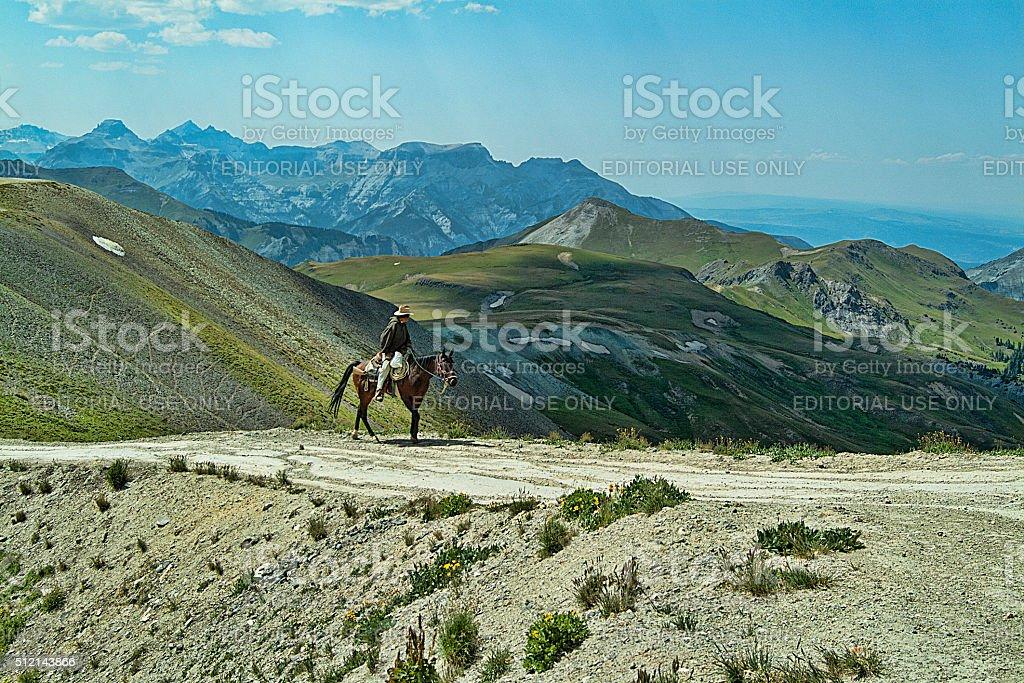 Engineer Pass Cowboy stock photo