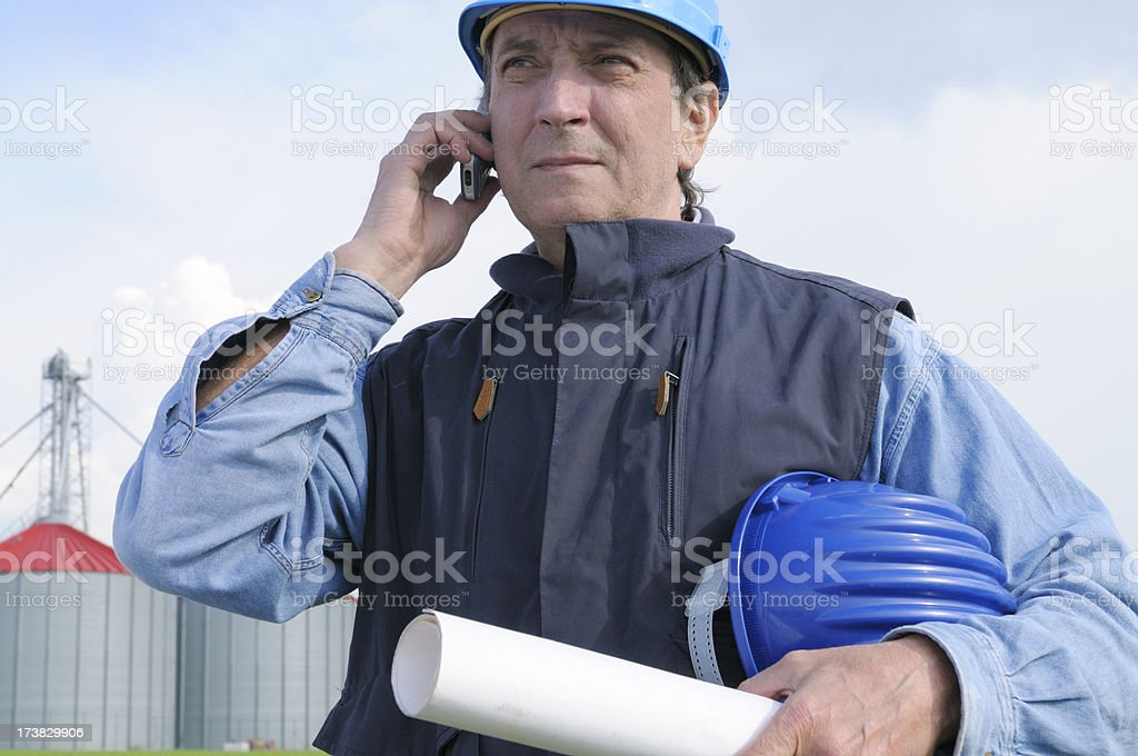 Engineer Planning Portrait in the Country royalty-free stock photo