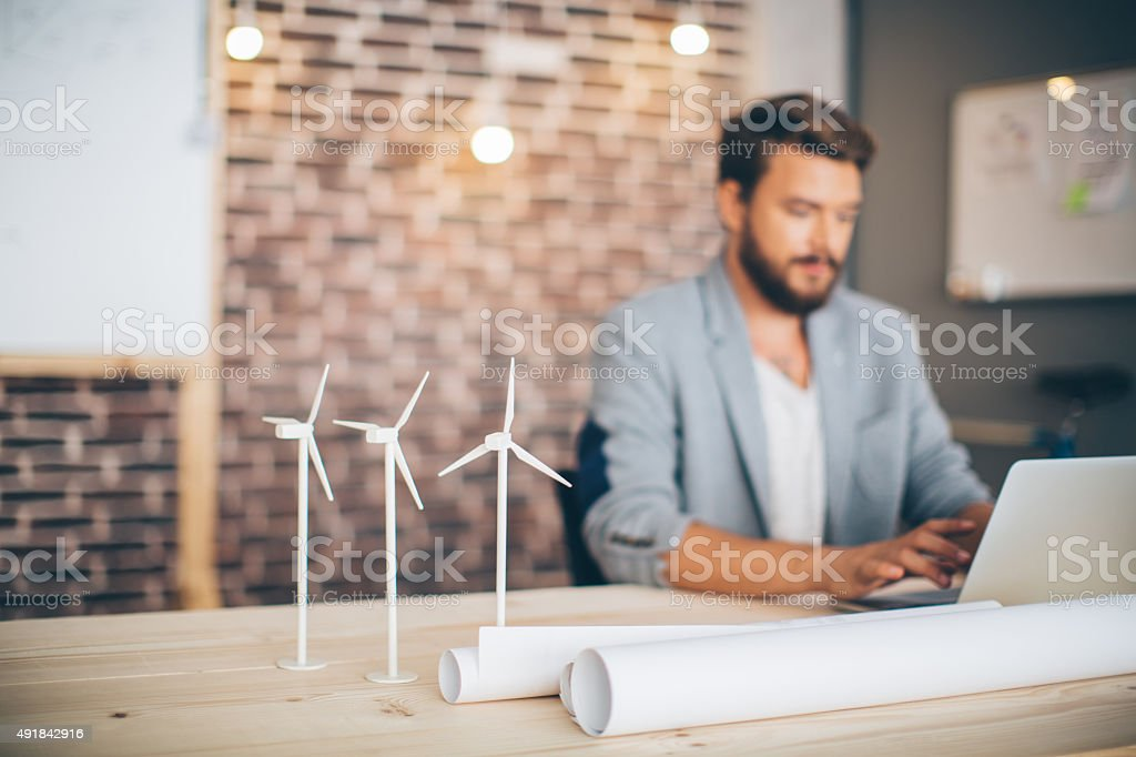 Engineer projecting. stock photo