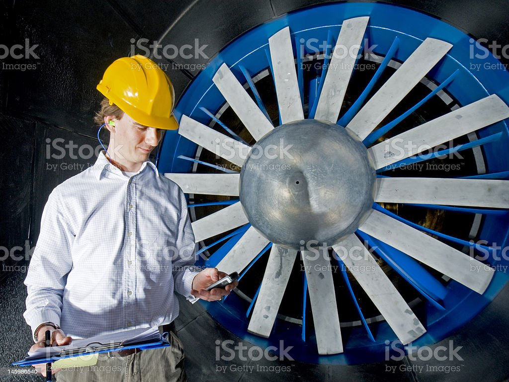 Engineer, reporting in royalty-free stock photo