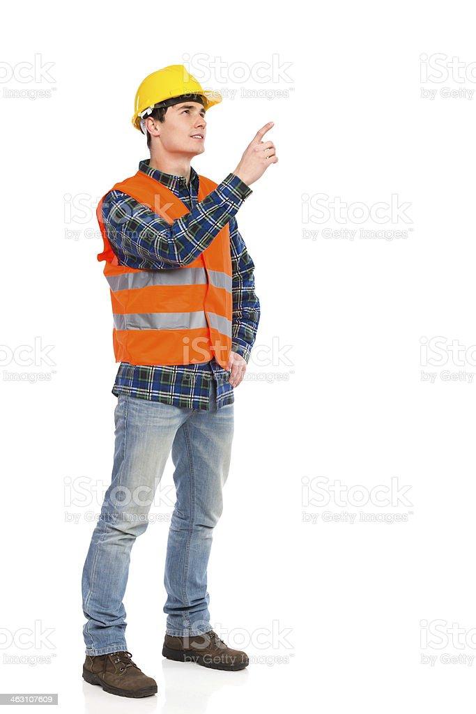Engineer reprimands. stock photo