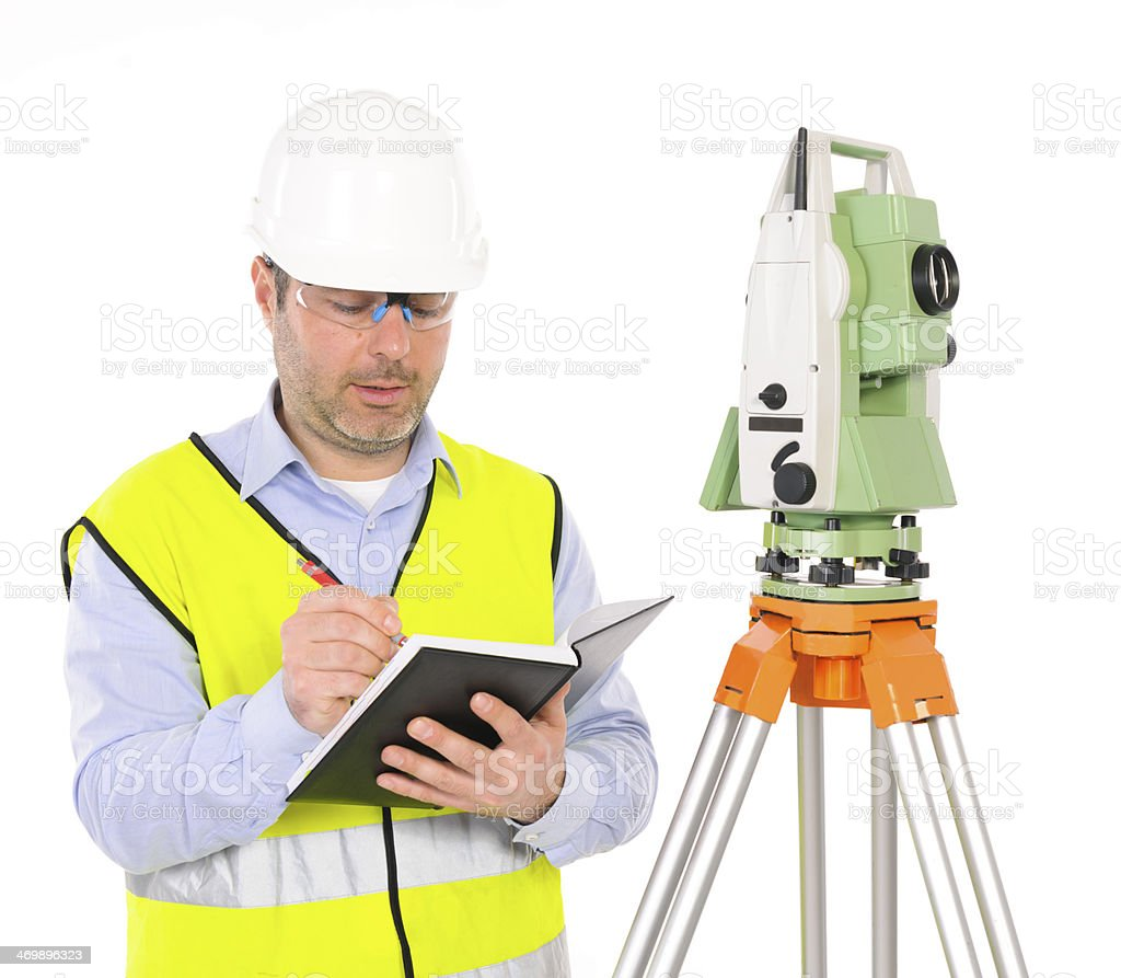 engineer with agenda royalty-free stock photo