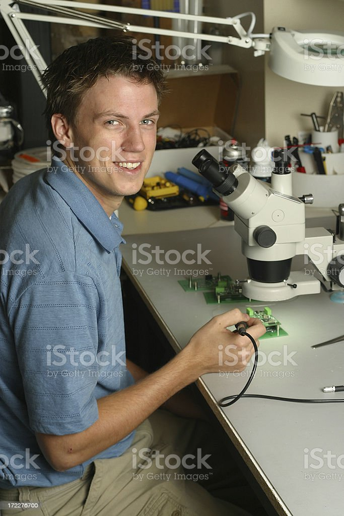 Engineer working on Lab royalty-free stock photo