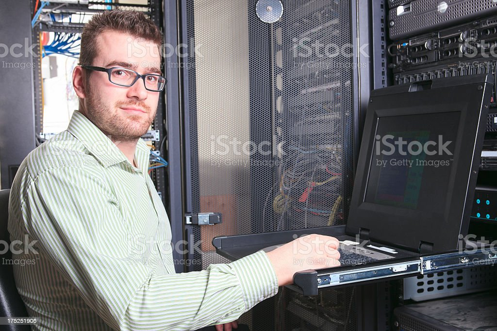 IT Engineer - Working royalty-free stock photo