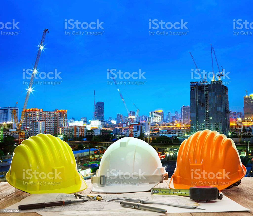 engineer working table stock photo