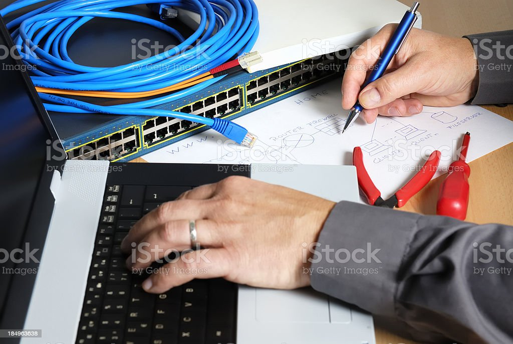 engineer workplace royalty-free stock photo