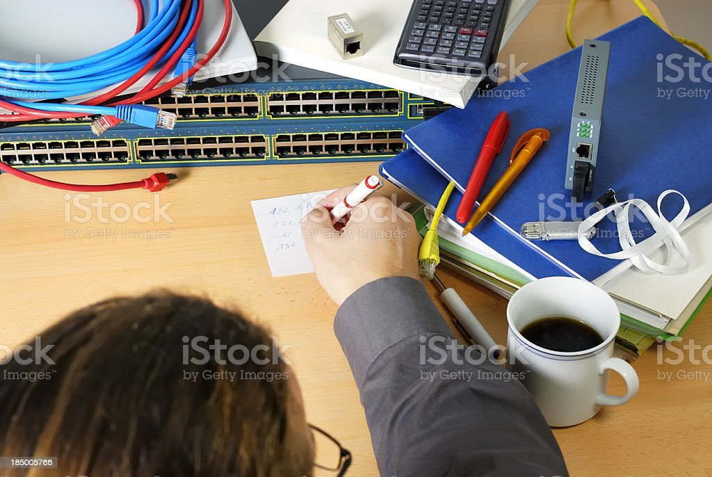 engineer workplace stock photo