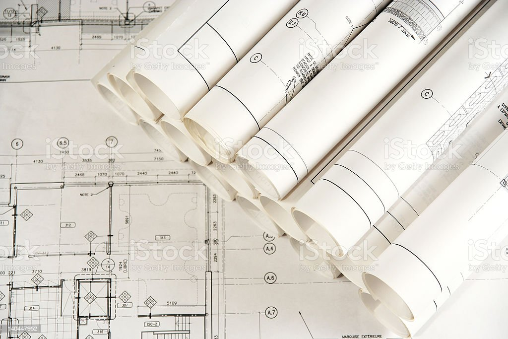 Engineering and Architecture Drawings 2 royalty-free stock photo