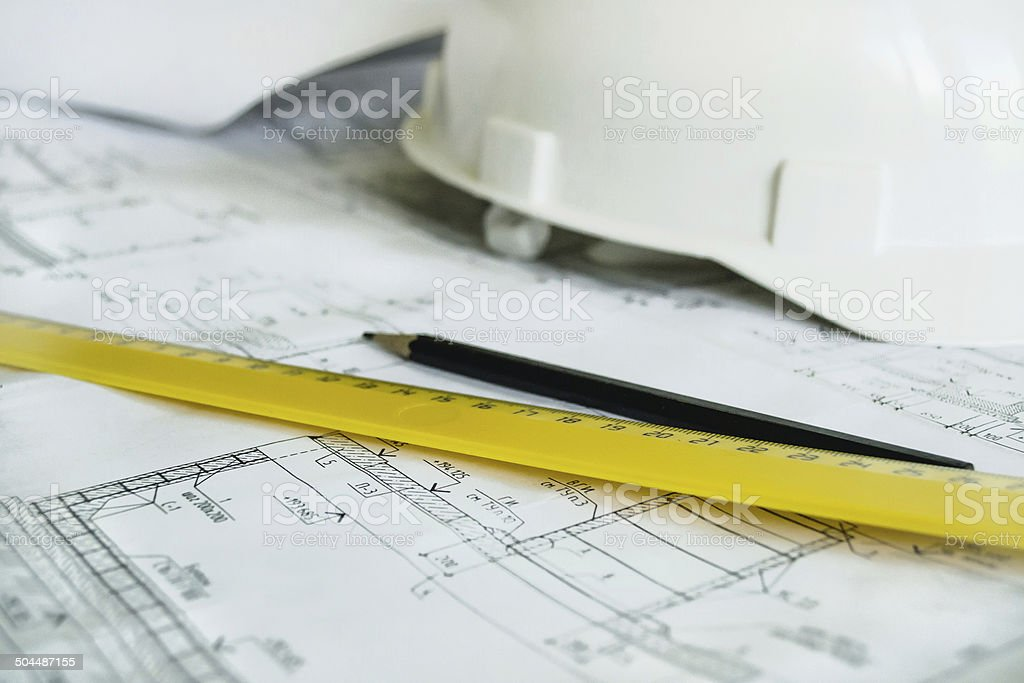 Engineering and building royalty-free stock photo