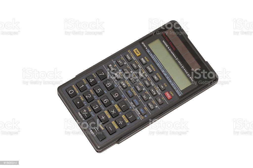 Engineering calculator isolated royalty-free stock photo