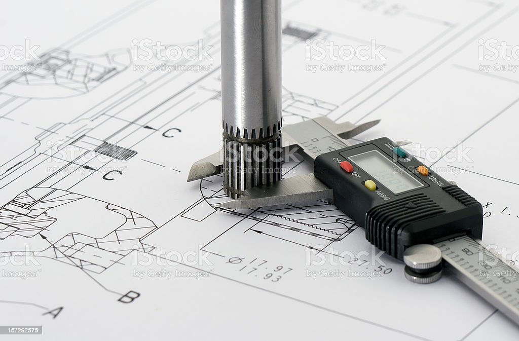 Engineering Drawing 3 royalty-free stock photo