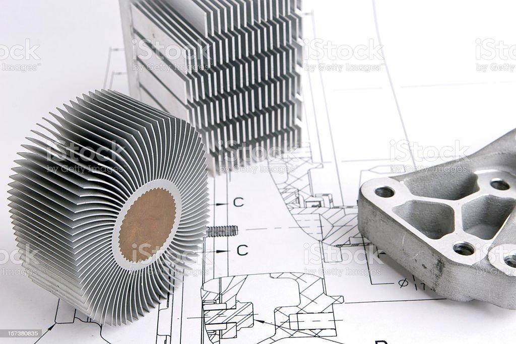 Engineering drawing royalty-free stock photo