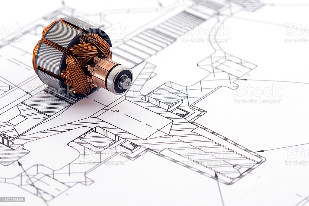 Engineering Drawing stock photo