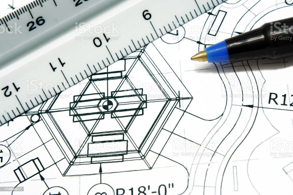 Engineering Drawings royalty-free stock photo