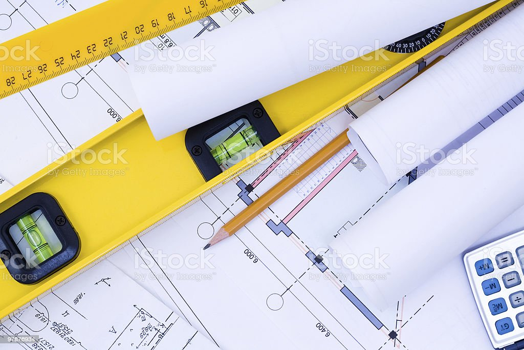 Engineering Drawings royalty-free stock photo