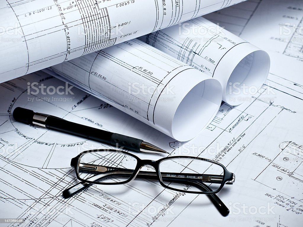 Engineering Plans 3 royalty-free stock photo