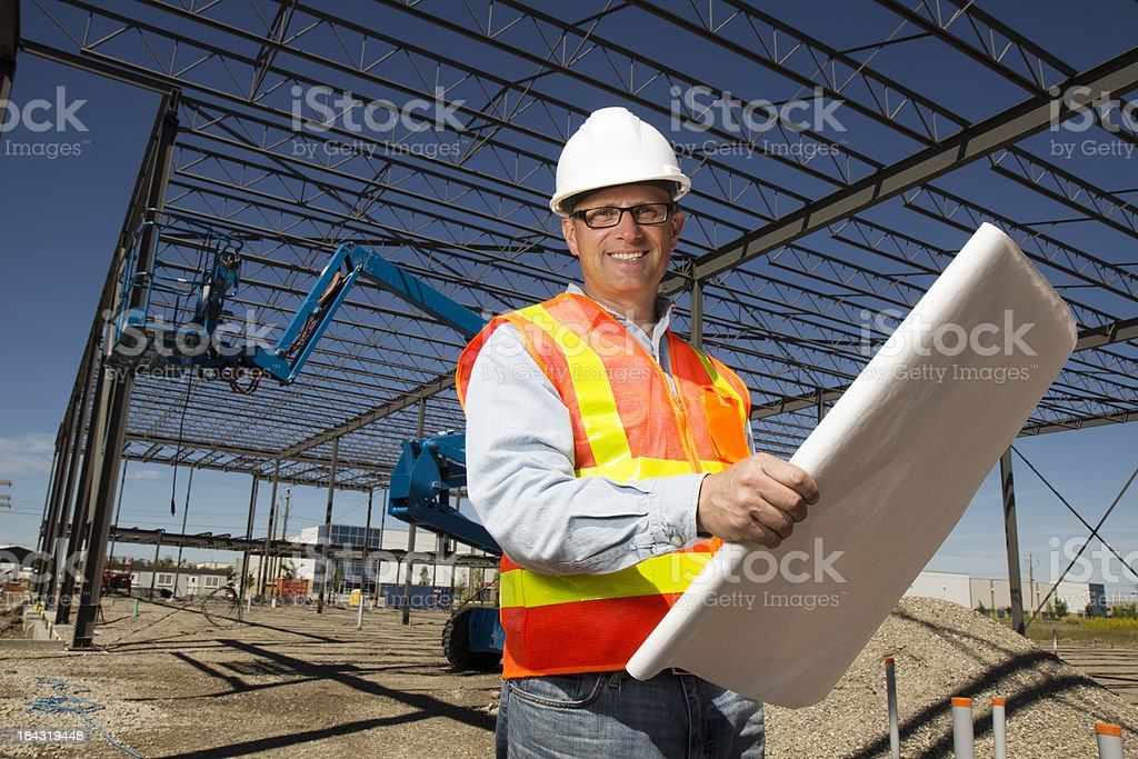 Engineering Plans stock photo