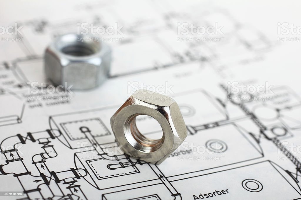 Engineering project stock photo