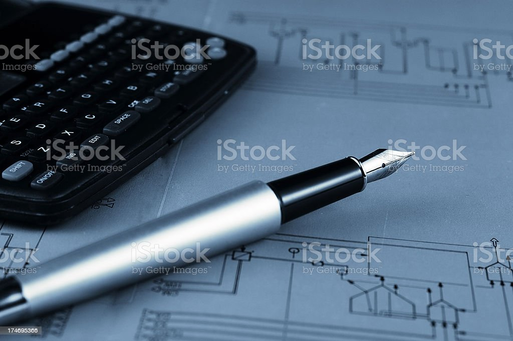 Engineering work royalty-free stock photo
