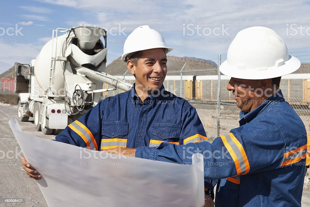 Engineers and Foreman royalty-free stock photo